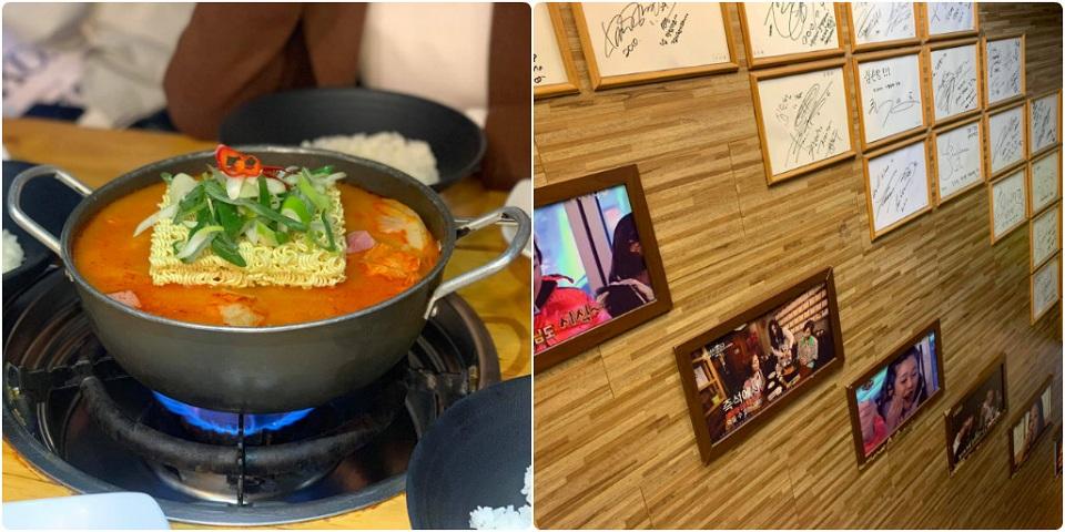 Món lẩu bộ đội Olive Young Seoul Hàn Quốc