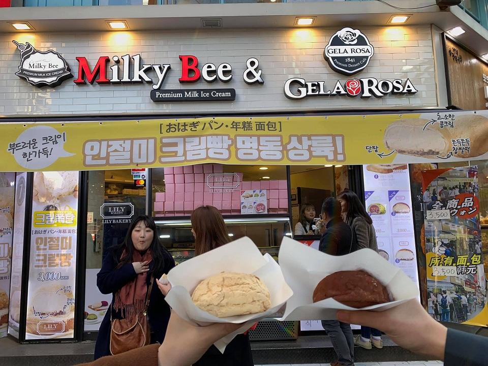 Tiệm bánh và kem Milky Bee ở khu Myeongdong