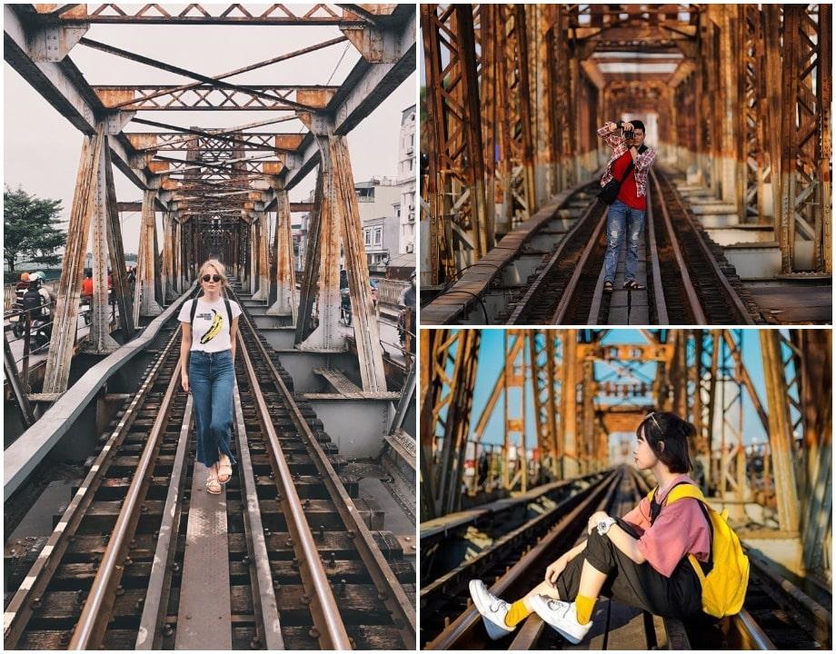 Cách chụp ảnh trên đường tàu